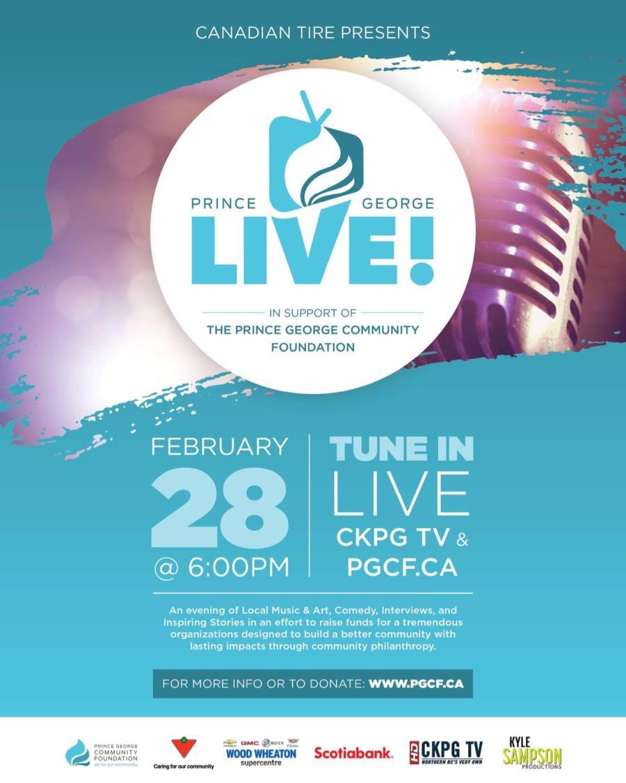 PGCF announces Prince George Live!